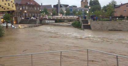 Tremendas inundaciones en el sur de Alemania